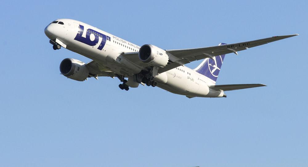 Samolot Dreamliner polskich linii lotniczych LOT