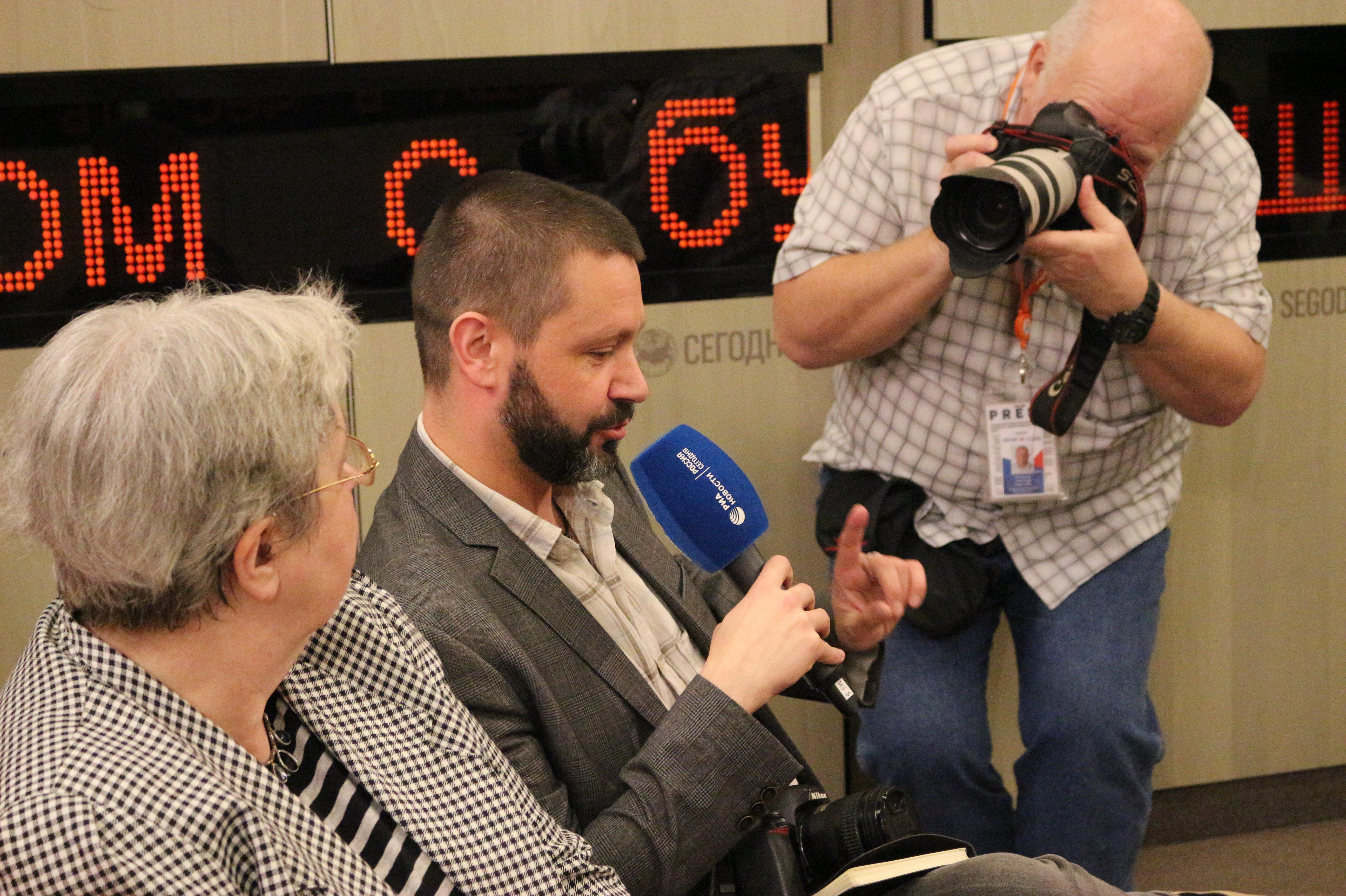 Konrad Rękas, polski publicysta. Moskwa.