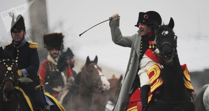 Rekonstrukcja bitwy pod Austerlitz w Czechach