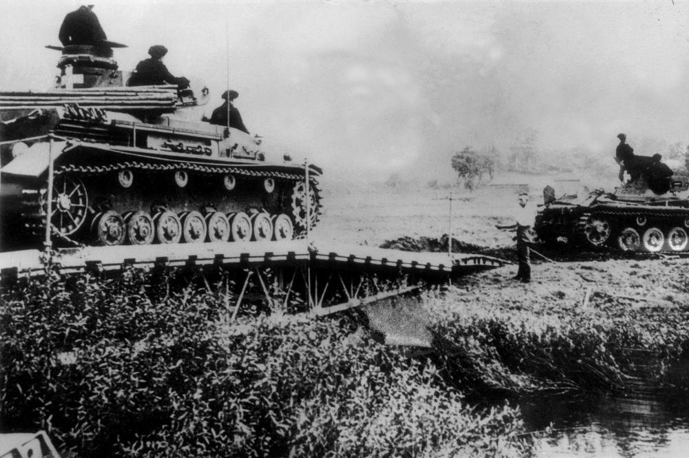 Niemieckie czołgi na polsko-niemieckiej granicy
