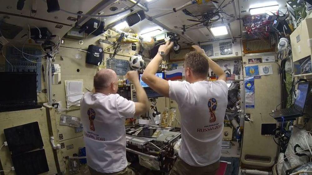 Kosmonauci kibicują podczas MŚ 2018