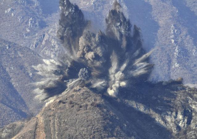Eksplozja posterunku granicznego w strefie zdemilitaryzowanej KRLD