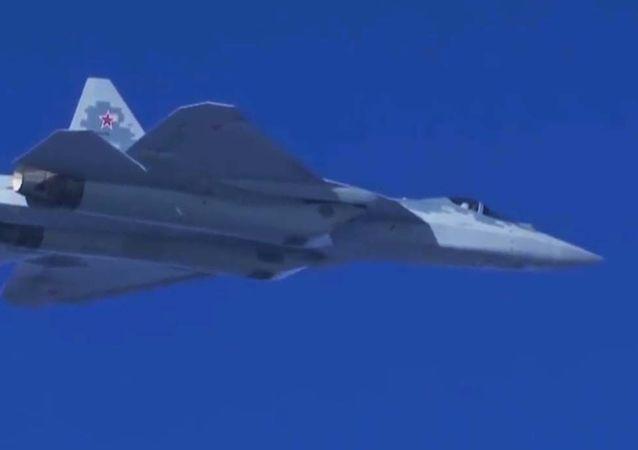 Najnowszy myśliwiec Su-57 w Syrii