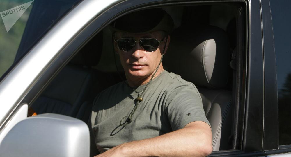 Premier Rosji Władimir Putin na urlopie w Republice Tywy