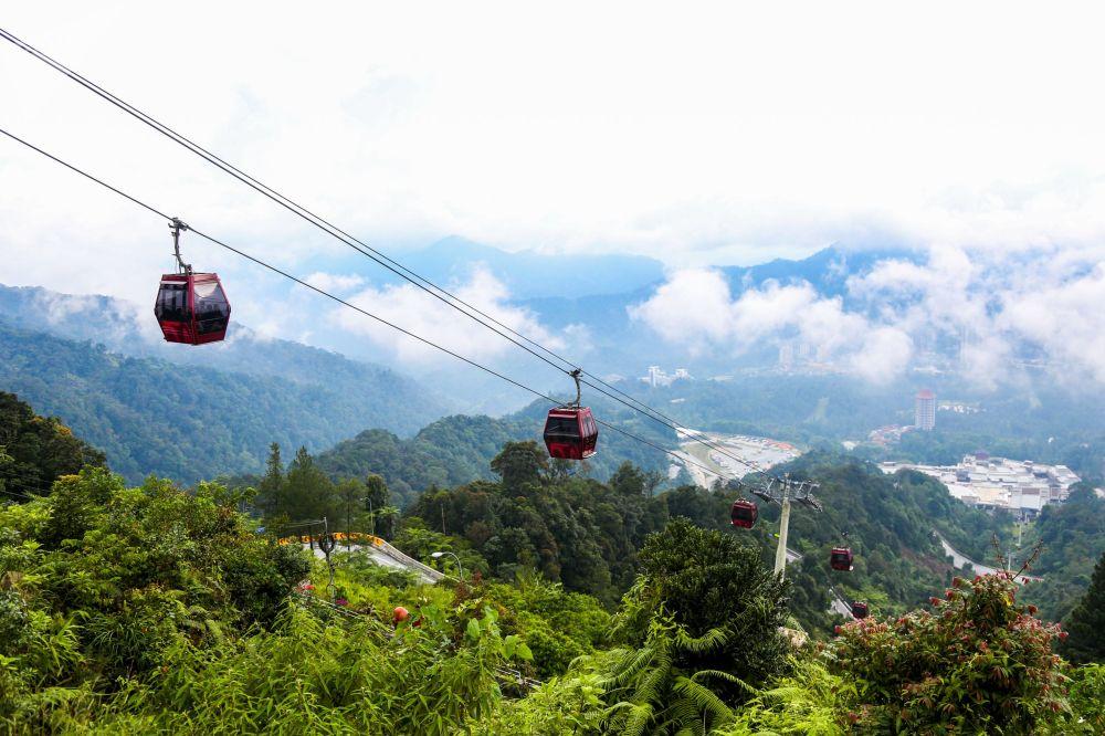 Kolejka linowa w Genting Highlands w Malezji