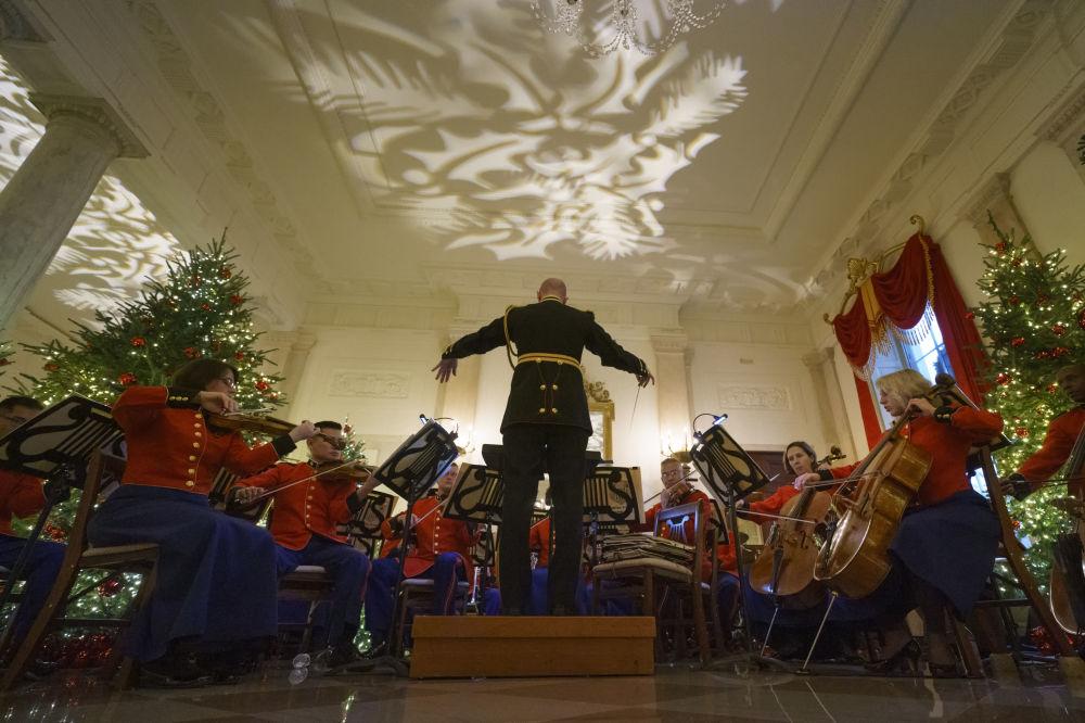 Występ amerykańskiej Orkiestry Morskiej w Białym Domu