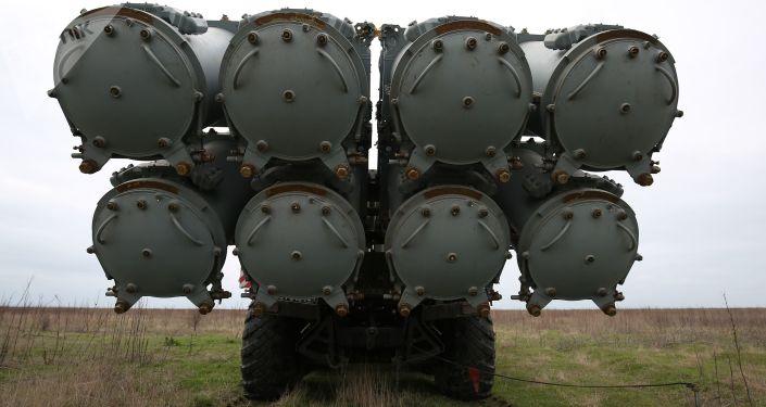 Rakietowy system obrony wybrzeża Bał na poligonie Żelezny Rog na czarnomorskim wybrzeżu w Kraju Krasnodarskim