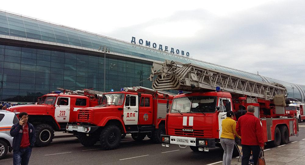 Zadymienie na lotnisku Domodiedowo