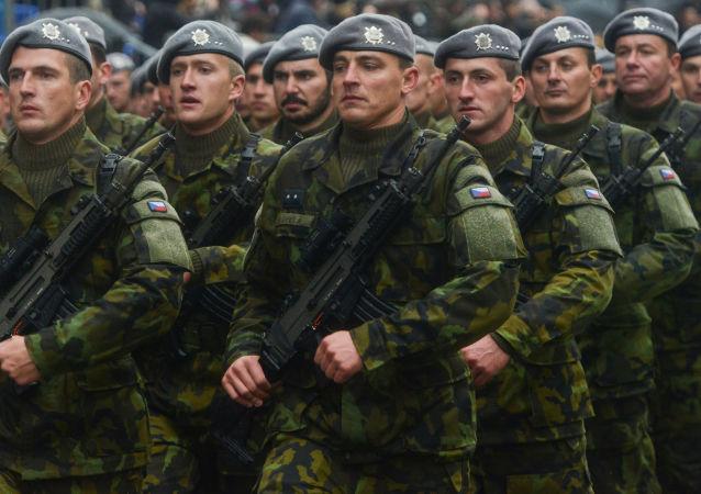 Czescy wojskowi na defiladzie