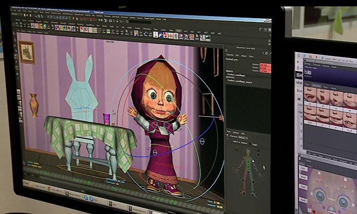 """Proces powstawania bajki animowanej """"Masza i Niedźwiedź"""
