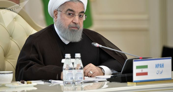 Prezydent Iranu Hasan Rouhani na spotkaniu państw uczestniczących w V Szczycie Kaspijskim w Aktau
