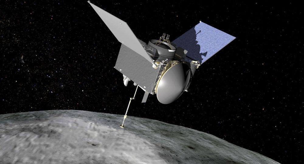 Artystyczny obraz statku kosmicznego OSIRIS-REx