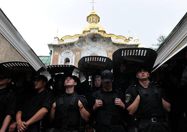 Siły Zbrojne Ukrainy przed Ławrą Peczerską w Kijowie
