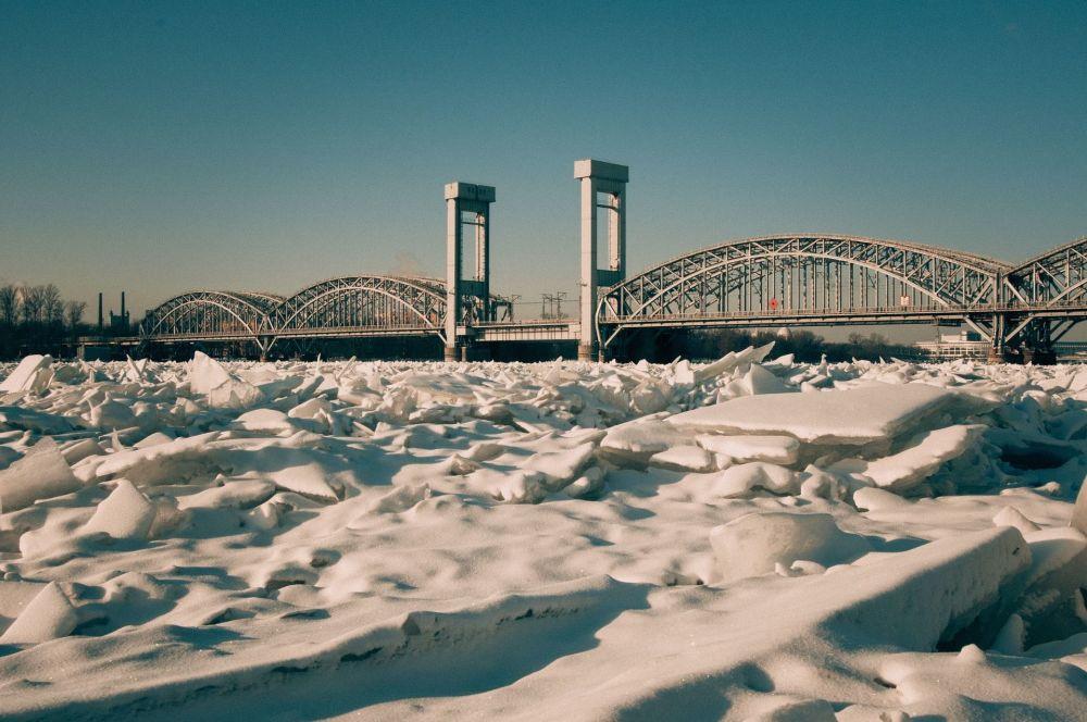 Zimowy pejzaż w Petersburgu