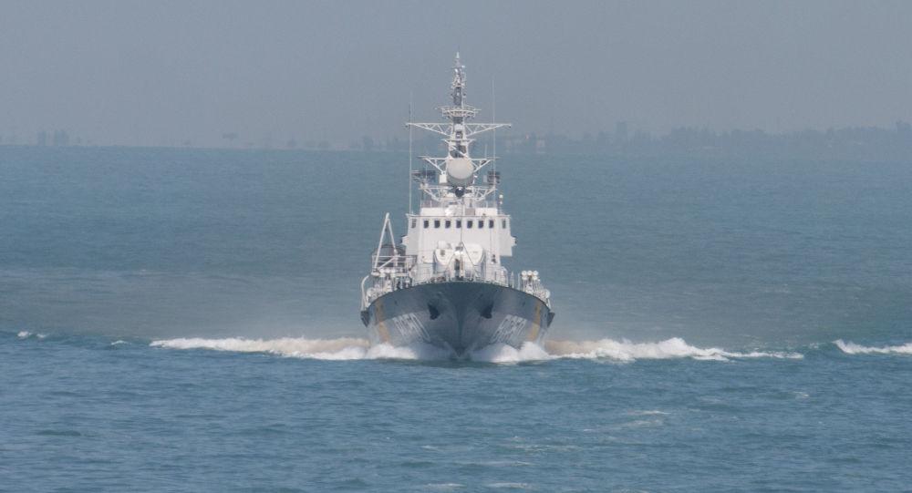 Korweta Ochrony Morskiej Państwowej Służby Granicznej Ukrainy Grigorij Kuropiatnikow w czasie manewrów Sea Breeze 2017
