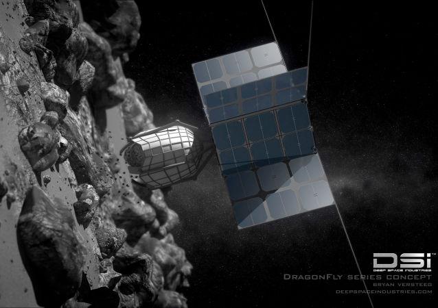 Koncepcja sondy do wierceń na asteroidach opracowana przez DragonFly firmy Deep Space Industries