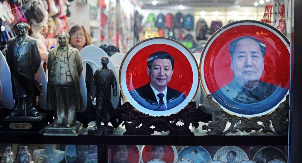 Sprzedaż pamiątek w Pekinie