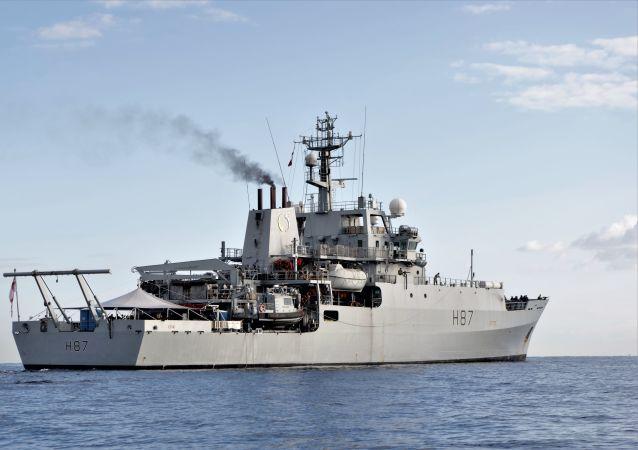 Brytyjski okręt zwiadowczy HMS Echo H87