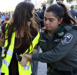 """Akcja protestacyjna """"żółtych kamizelek"""" w Izraelu"""