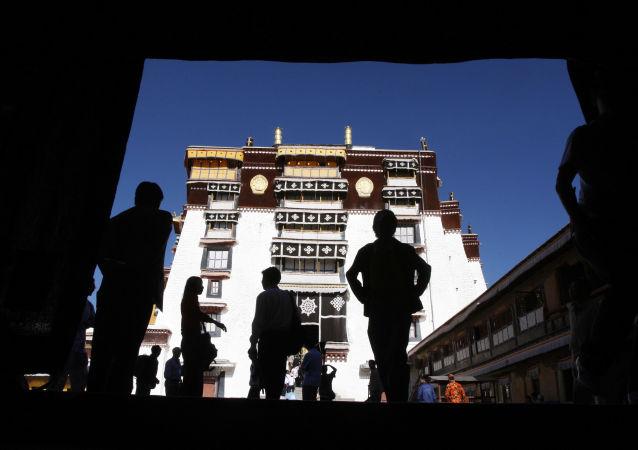 Turyści w Tybecie