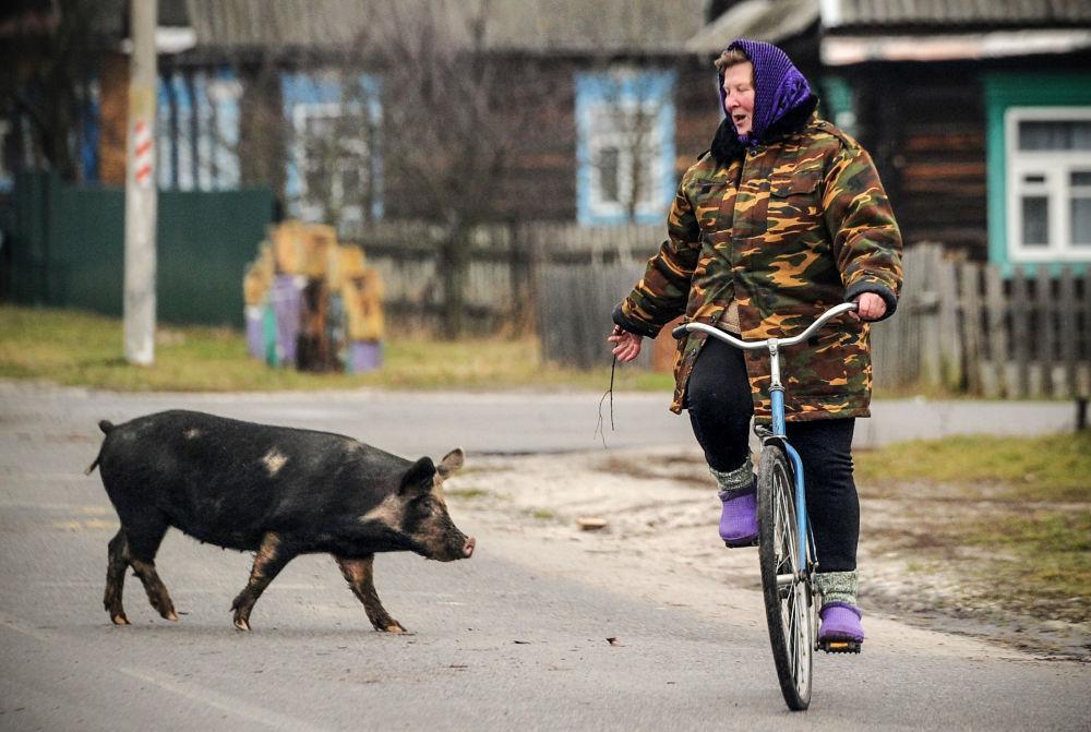 Białoruska wieś Tonież