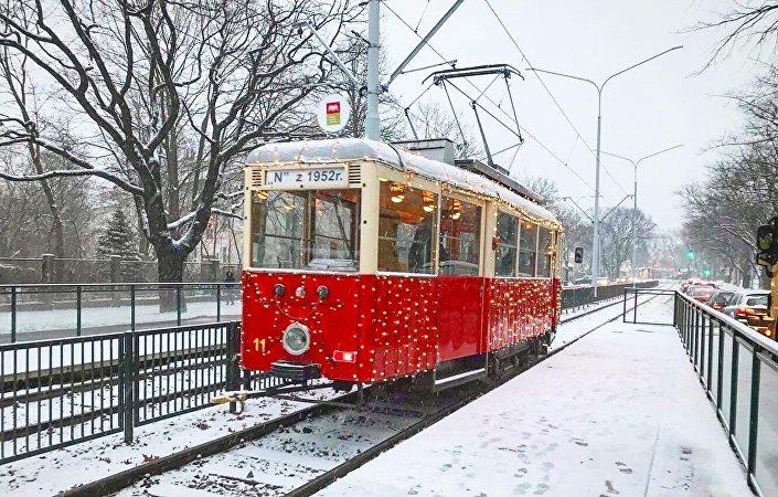 Tramwaj świąteczny w Gdańsku