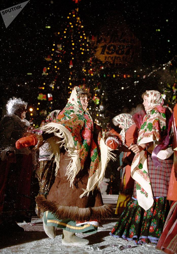 Jarmark noworoczny w Moskwie, 1987 rok