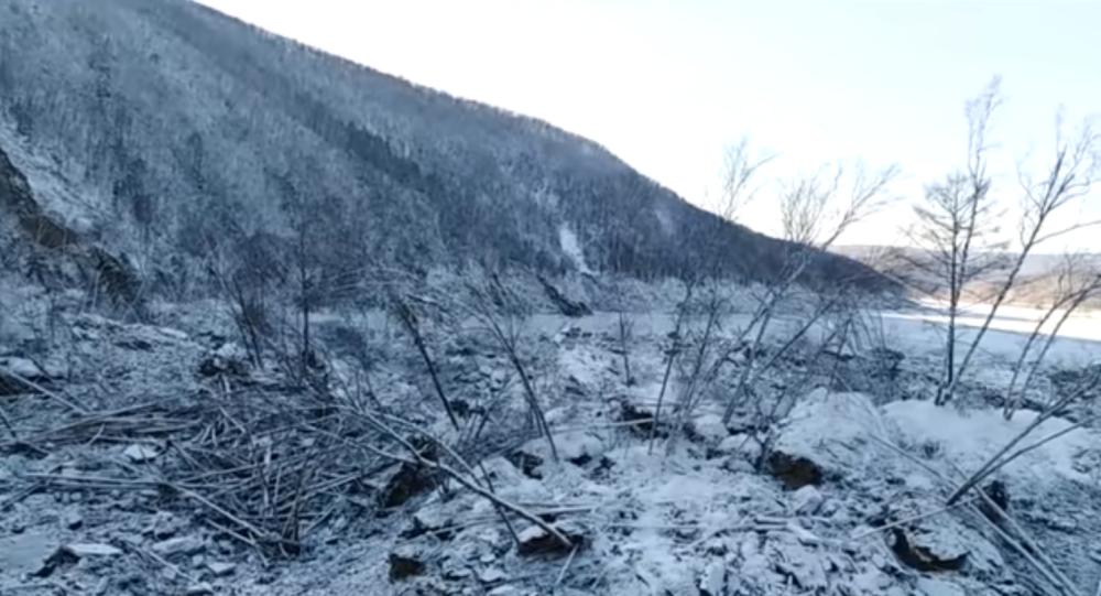 Miejsce upadku meteorytu w Chabarowsku
