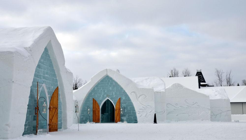 Hotel lodowy w Quebec, Kanada