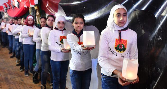 Obchody rocznicy wyzwolenia Aleppo od terrorystów