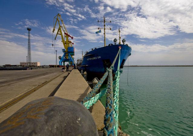 Port Aktau w Kazachstanie