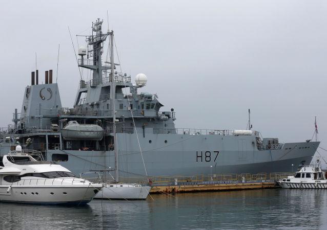 """Okręt Marynarki Wojennej Wielkiej Brytanii """"Echo"""" w porcie w Odessie na Ukrainie"""
