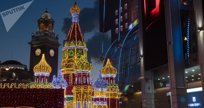 Noworoczne dekoracje, Moskwa