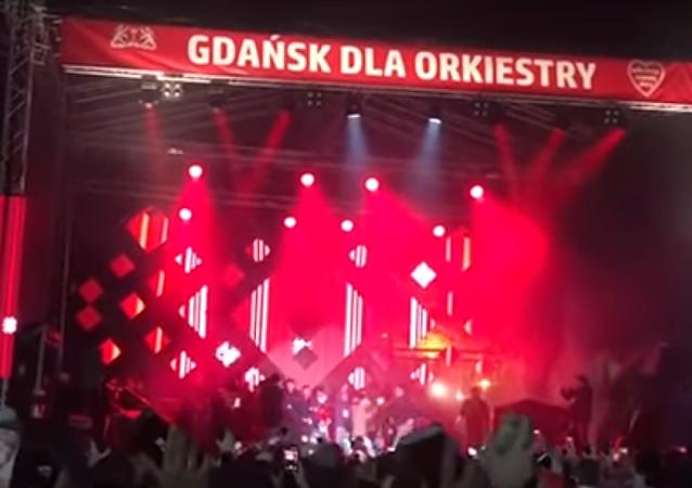 Gdańsk: moment ataku na prezydenta Pawła Adamowicza