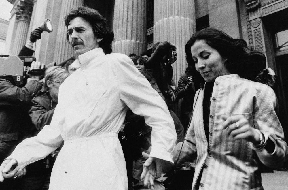 Były członek zespołu The Beatles George Harrison i jego żona Olivia, 1981 rok