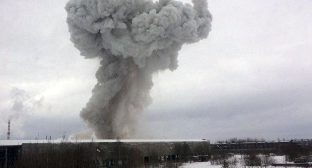 """Wybuch w zakładzie """"Poliplast"""" w Kingisepp"""