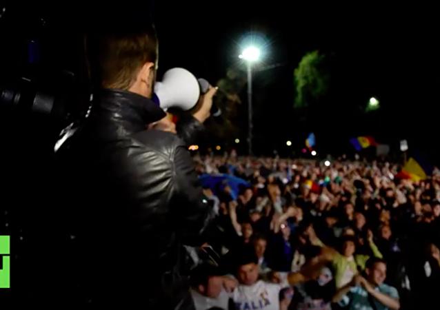 Protestujący W Kiszyniowie