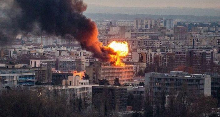 Wybuch w bibliotece Uniwersytetu w Lyonie