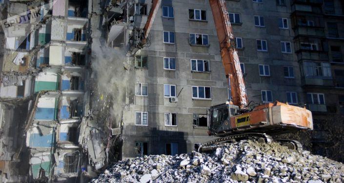Blok mieszkalny, gdzie doszło do wybuchu gazu, Magnitogorsk
