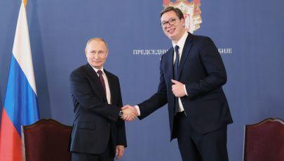 Władimir Putin i Aleksandar Vucić w Belgradzie