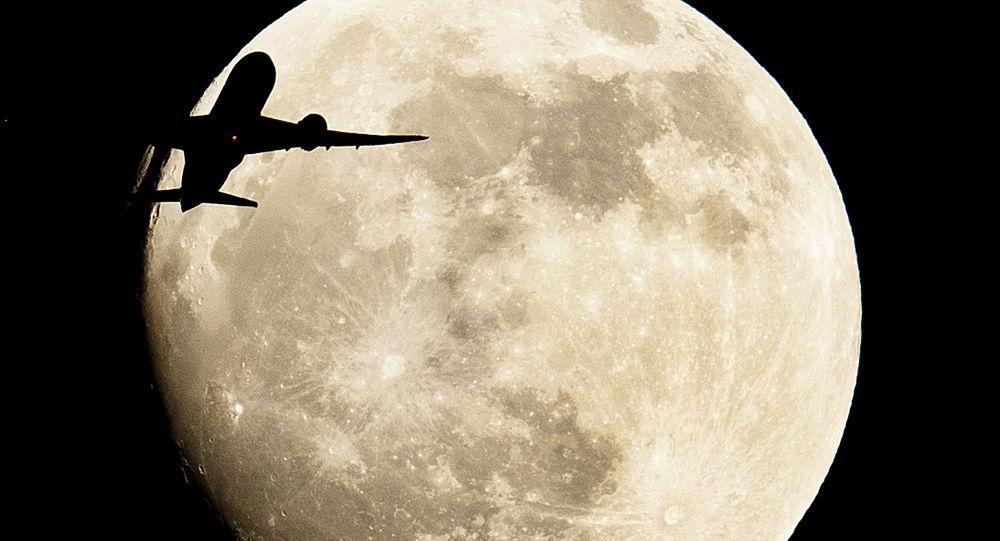 Zaćmienie Księżyca widziane we Frankfurcie