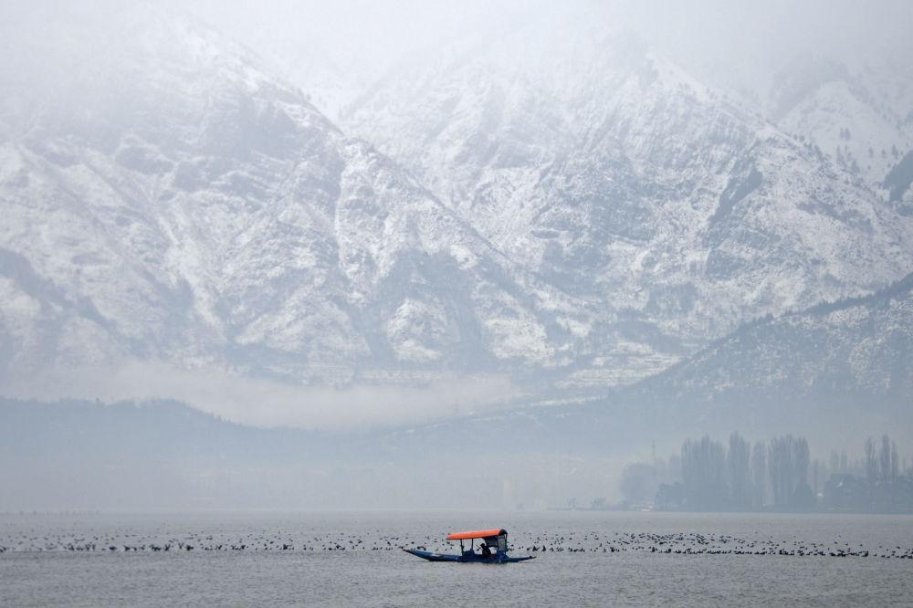 Jezioro Dal w Indiach