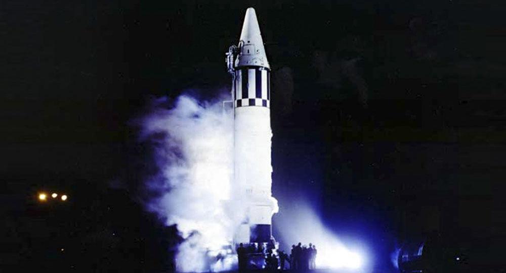 Amerykańska rakieta balistyczna pośredniego zasięgu Jupiter w czasie startu