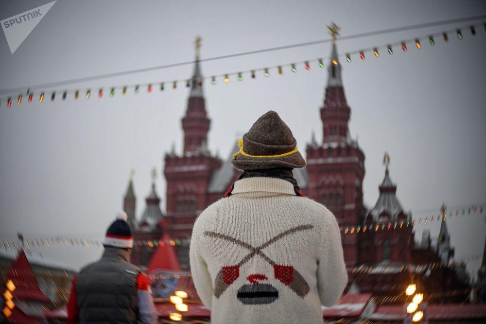 Uczestnik międzynarodowego turnieju curlingowego wśród męskich drużyn z serii World Curling Tour - Red Square Classic 2019