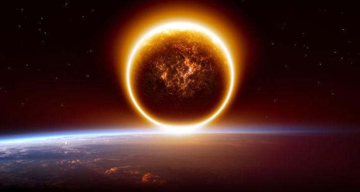 Wizerunek planety Nibiru nad Ziemią