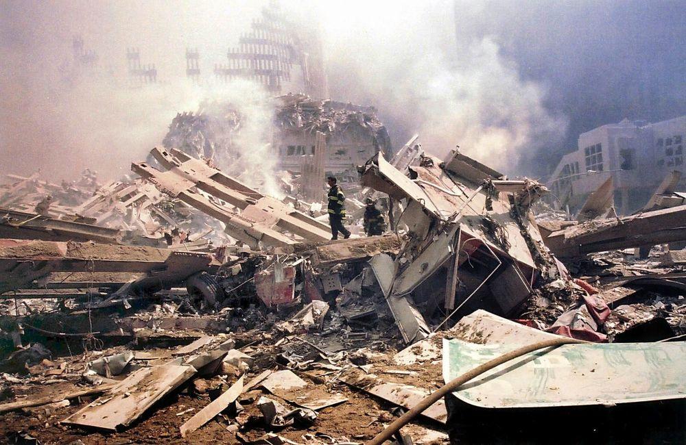 Gruzy WTC po zamachach terrorystycznych 11 września w Nowym Jorku