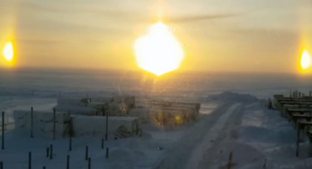 """Zjawisko optyczne """"trzech słońc w Jamalsko-Nienieckim Okręgu Autonomicznym"""