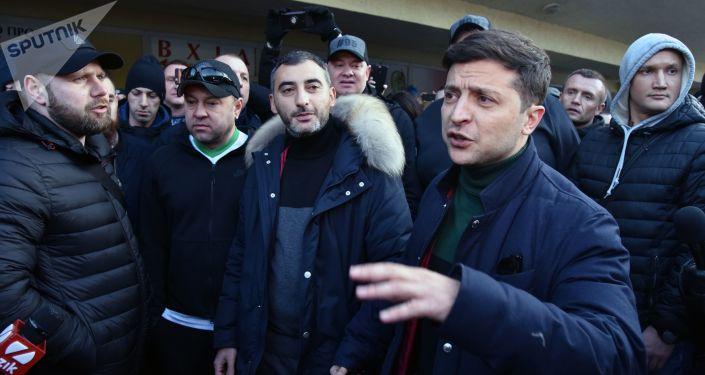 Kandydat na prezydenta Ukrainy Władimir Zieleński