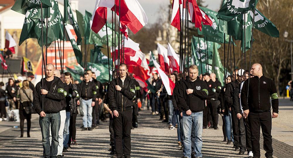 Marsz narodowców w Białymstoku. Zdjęcie archiwalne