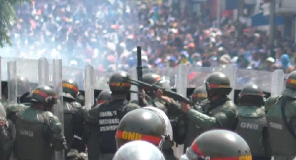 Starcia na wenezuelskiej granicy